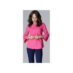 Bluzka L010 Fuksja. Czerwone bluzki wizytowe marki Lenitif, l, eleganckie, z falbankami. Za 119,00 zł.
