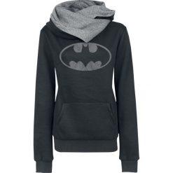 Bluzy rozpinane damskie: Batman Logo Bluza z kapturem damska czarny/szary