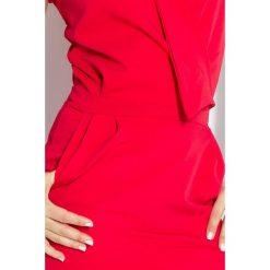 Elena Sukienka z zakładanym dekoltem - CZERWONA. Czerwone sukienki mini numoco, s, z krótkim rękawem. Za 145,00 zł.