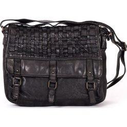 Torebki klasyczne damskie: Skórzana torebka w kolorze czarnym – 32 x 26 x 10 cm