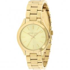 """Zegarek kwarcowy """"Mini Slim Runway"""" w kolorze złotym. Żółte, analogowe zegarki damskie Michael Kors, ze stali. W wyprzedaży za 454,95 zł."""