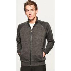 Bluza ze stójką - Czarny. Białe bluzy męskie marki Reserved, l, z dzianiny. Za 139,99 zł.