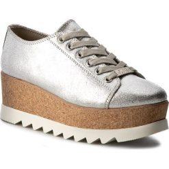 Półbuty STEVE MADDEN - Korrie Sneaker 91000255-0S0-10001-14010 Silver Metallic. Szare półbuty damskie na koturnie marki Steve Madden, ze skóry. W wyprzedaży za 399,00 zł.