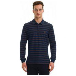 Galvanni Koszulka Polo Męska Labor L Ciemny Niebieski. Niebieskie koszulki polo marki GALVANNI, l, w paski. W wyprzedaży za 189,00 zł.