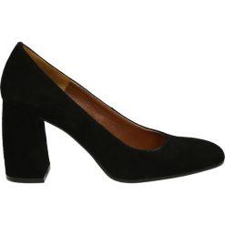 Czółenka - 2201 CAM NERO. Czarne buty ślubne damskie Venezia, ze skóry. Za 349,00 zł.