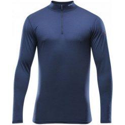 Devold Koszulka Męska Breeze Man Half Zip Neck Mistral L. Niebieskie odzież termoaktywna męska marki Devold, na jesień, l, z materiału, z długim rękawem, outdoorowe. W wyprzedaży za 249,00 zł.