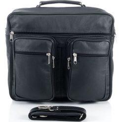 Skórzana torba męska na ramię i do ręki ANTON. Czarne torby na ramię męskie marki Abruzzo, ze skóry. Za 159,90 zł.