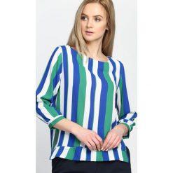 Bluzki damskie: Niebiesko-Zielona Bluzka Holding Pattern