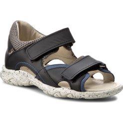 Sandały MRUGAŁA - Remi 1301-76 Blu Jeans. Niebieskie sandały męskie skórzane marki Mrugała. W wyprzedaży za 169,00 zł.