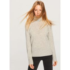 Kaszmirowy sweter - Jasny szar. Szare swetry klasyczne damskie Reserved, l, z kaszmiru. Za 349,99 zł.