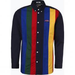 Tommy Jeans - Koszula męska, czarny. Czarne koszule męskie jeansowe Tommy Jeans, m, w kolorowe wzory. Za 449,95 zł.
