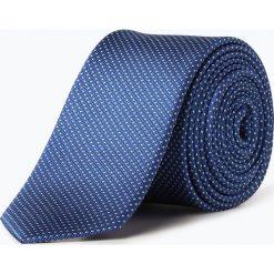 Olymp Level Five - Krawat jedwabny męski, niebieski. Niebieskie krawaty męskie OLYMP Level Five, w kropki, z jedwabiu. Za 149,95 zł.
