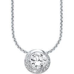 Naszyjniki damskie: Srebrny naszyjnik z zawieszką – dł. 45 cm