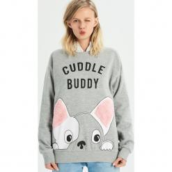 Bluza Cuddle buddy - Jasny szar. Szare bluzy damskie Sinsay, l. Za 49,99 zł.