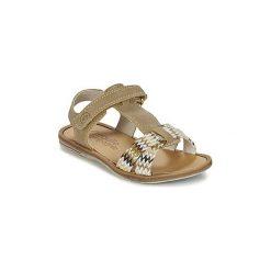 Sandały Dziecko  Citrouille et Compagnie  GIFOU. Czerwone sandały dziewczęce marki Born2be, z materiału, z otwartym noskiem, na zamek. Za 125,30 zł.