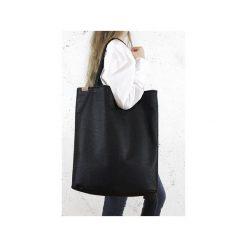 Mega Shopper bag czarna teksturowana torba oversize Vegan. Czarne shopper bag damskie Hairoo, w paski. Za 185,00 zł.