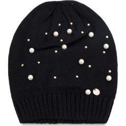 Czapka LIU JO - Cappello Maglia Perl N68251 M0300 Nero 22222. Czarne czapki zimowe damskie Liu Jo, z materiału. Za 199,00 zł.