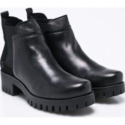 S. Oliver - Botki. Czarne buty zimowe damskie S.Oliver, z materiału. W wyprzedaży za 159,90 zł.
