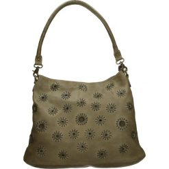 Torba - PLEAP61 OLIVE. Zielone torebki klasyczne damskie Venezia, w paski, ze skóry. Za 549,00 zł.