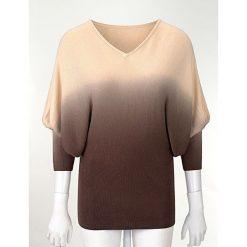 Swetry damskie: Sweter dzianinowy bonprix brązowy