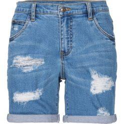 """Szorty dżinsowe bonprix niebieski """"bleached"""". Szare szorty jeansowe damskie marki Sinsay. Za 109,99 zł."""