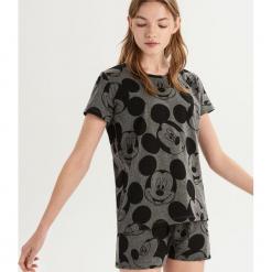 Dwuczęściowa piżama Mickey Mouse - Szary. Szare piżamy damskie Sinsay, l, z motywem z bajki. Za 49,99 zł.