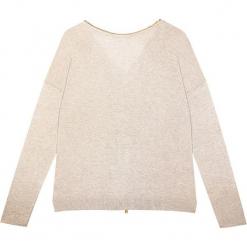 Sweter jedwabny w kolorze beżowym. Brązowe kardigany damskie marki Ateliers de la Maille, z jedwabiu. W wyprzedaży za 318,95 zł.