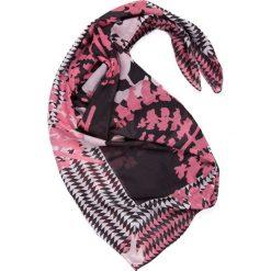 Apaszki damskie: Czarno-różowa apaszka QUIOSQUE