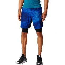 Spodenki i szorty męskie: Adidas Spodenki męskie SpeedBR SH 2IN1 niebieskie r. XL (BR9133)