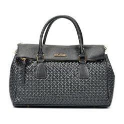 Torebki i plecaki damskie: Skórzana torebka w kolorze czarnym – (S)29 x (W)38 x (G)14 cm
