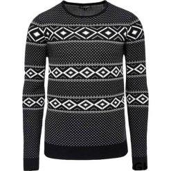 Swetry klasyczne męskie: Sweter w kolorze biało-czarnym