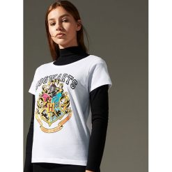 T-shirt Harry Potter - Biały. Białe t-shirty damskie House, l. Za 39,99 zł.