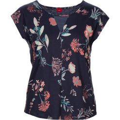 """Koszulka piżamowa """"Flower Dreams"""" w kolorze granatowym. Białe koszule nocne i halki marki LASCANA, w koronkowe wzory, z koronki. W wyprzedaży za 45,95 zł."""
