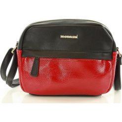 Lifestylowa listonoszka czerwony. Czerwone torby na ramię męskie Monnari, w paski, ze skóry ekologicznej, przez ramię. Za 129,00 zł.