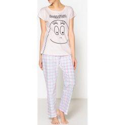 Piżamy damskie: 2-częściowa bawełniana piżama z nadrukiem, Barpapapa