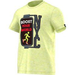 Adidas Koszulka męska żółta r. S (S16793). Białe t-shirty męskie marki Adidas, l, z jersey, do piłki nożnej. Za 53,35 zł.