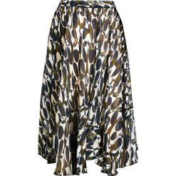Spódniczki: Spódnica szyfonowa z nadrukiem bonprix zielony khaki z nadrukiem