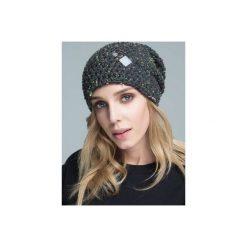Czapka hauer KRAFF GREY hand made. Czarne czapki zimowe damskie marki Hauer, z nadrukiem, z polaru. Za 109,00 zł.