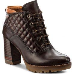 Botki PIKOLINOS - W7M-8936 Olmo. Brązowe buty zimowe damskie Pikolinos, z materiału, na obcasie. W wyprzedaży za 399,00 zł.