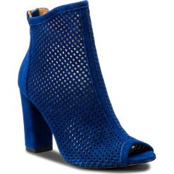Botki R.POLAŃSKI - 0920 Chaber/Zamsz. Niebieskie buty zimowe damskie marki R.Polański, ze skóry, na obcasie. W wyprzedaży za 249,00 zł.