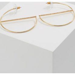 Kolczyki damskie: Rebecca Minkoff CIRCLE HOOP WITH PAVE BAR Kolczyki goldcoloured