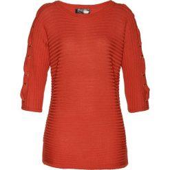 Sweter bonprix pomarańczowy matowy. Brązowe swetry klasyczne damskie marki bonprix. Za 119,99 zł.