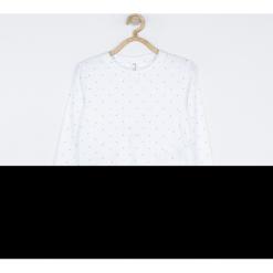 Koszulka. Białe bluzki dziewczęce bawełniane marki ELEGANT BABY GIRL, w kropki, z długim rękawem. Za 55,90 zł.