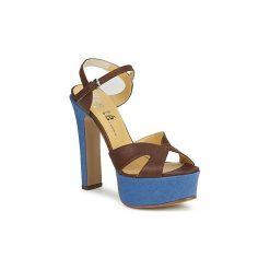 Sandały Keyté  CUBA-LUX-MARRONE-FLY-9. Brązowe sandały damskie marki Keyté. Za 759,20 zł.