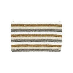 Kopertówki damskie: Kopertówka w kolorze biało-złoto-srebrnym – (D)25 x (S)15 cm