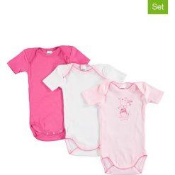 Body niemowlęce: Body (3 szt.) w kolorze jasnoróżowym, różowym i białym