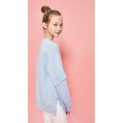 Odzież dziewczęca: Bluza z falbankami - Niebieski