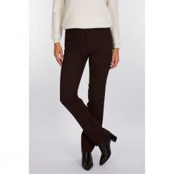"""Spodnie """"Soul"""" w kolorze brązowym. Brązowe spodnie z wysokim stanem marki Scottage, w paski. W wyprzedaży za 99,95 zł."""