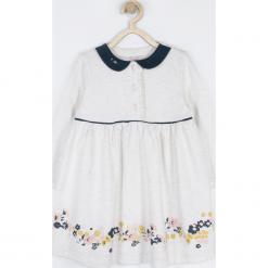 Sukienka. Szare sukienki dziewczęce z falbanami MUMMY SHEEP, z aplikacjami, z długim rękawem, długie. Za 69,90 zł.