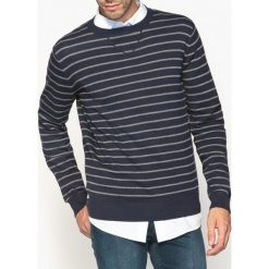 Swetry damskie: Sweter w paski, okrągły dekolt, z czystej bawełny